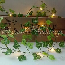 Ivy Leaves LED Fairy String Lights Battery Garland Indoor Wedding Decorations