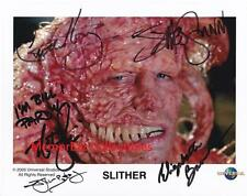 SLITHER Nathan Fillion / Elizabeth Banks +3 SIGNED Autograph 8x10 Color Photo