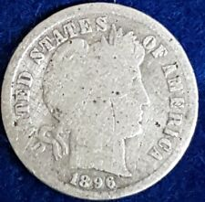 1896 Silver Barber Dime  ID #54-39