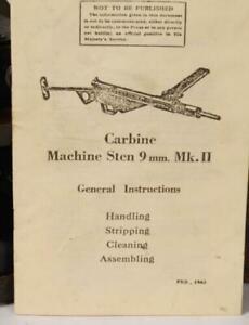 WW2 British machine gun manual, original paratrooper Sten Mkii WWII reprint