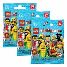 New 3 PACKS LEGO Series 17 Minifigure Blind Bags Mystery Figures Official