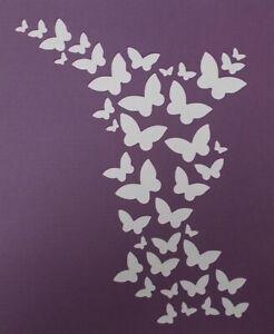Scrapbooking - STENCILS TEMPLATES MASKS SHEET - Butterfly Background Stencil
