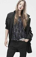 ISABEL MARANT Pour H&M Feather Print Oversized Linen Top 32/2 or Small