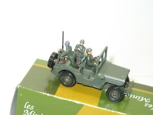 Solido, Jeep Willys Military Army French With 3 Soldiers Metal