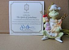 Lenox The Spirit Of Grinchmas Grinch Ornament New in Box with Coa Max Cindy Lou