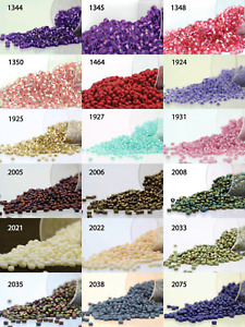 Miyuki Round Rocailles 11/0 Seed Beads - 20grs Bag Various colors - PS40