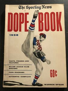 1958 Dope Book MILWAUKEE Braves WARREN SPAHN Hank AARON Willie MAYS Ted WILLIAMS