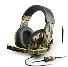 Para Pc Laptop PS4 Xbox 3.5mm Gaming Headset Micrófono Auriculares Regalo para jugadores Camuflaje