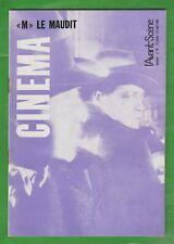 """CINEMA. """"M"""" Le Maudit par Fritz Lang. 1re édition 1964 L'avant-scène N° 39 TBE"""