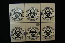 6x ZOMBIE OUTBREAK RESPONCE TEAM STICKER DECAL BIOHAZARD Car Truck boat Laptop