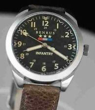New Mens Benrus 1921 Military Infrantry Pilot Outdoor sports Watch - NO RESERVE