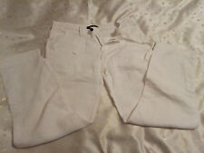 Zara Young Mens White Linen Adjustable Length Trousers Size EUR 40