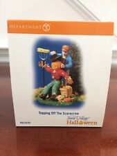 Department 56 Snow Village Halloween Topping Off the Scarecrow #54701 New