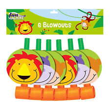 Fun Machine Jungle Party Blowouts 6 Pack Gift Bag Toy Childrens Birthday