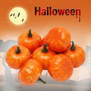 12Pcs Artificial Mini Foam Pumpkins Halloween Decoration Props Party Decor
