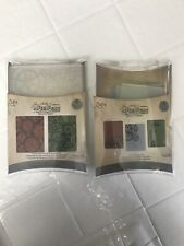 Lot Of 2:Tim Holtz Embossing Folders Pocket Watches & Steampunk, Artful Muse