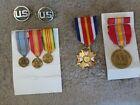 VINTAGE Group of Vietnam Era Medals & Ribbons National Defense Veterans Foreign