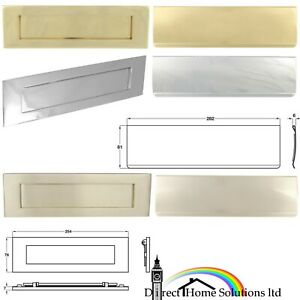 Hafele Sprung Flap Letter Plate & Interior Flap Mail Slot Post Box Door Mailbox
