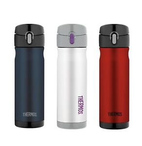 NEW Thermos S/Steel Vacuum Insulated Commuter Bottles 470ml Red Blue White