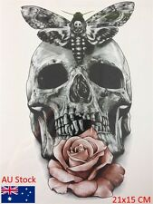 Skull Moth Flower Cool Beauty Tattoo Waterproof Hot Temporary Tattoo Stickers