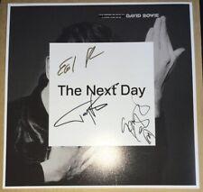 SIGNED TONY VISCONTI SLICK LEONARD DAVID BOWIE THE NEXT DAY 12x12 ALBUM PRINT