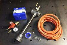Regulator and tubing for propane burners. Includes PTFE and clips.