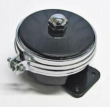 Lucas Type HF1441 12 Volt Horn, with chrome band Ideal for Vintage Motorcycle