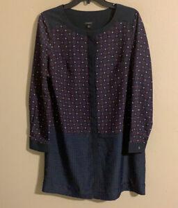 Ann Taylor long sleeve shift dress size 10