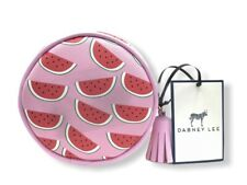 "DABNEY LEE Pink Watermelon Round Coin/Cosmetic Bag  4.5"" x 1.5"" New with Tags"