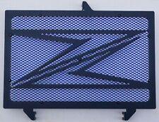 """cache grille radiateur Kawasaki Z750 07>12 design """"Z"""" noir mat + grill bleu"""