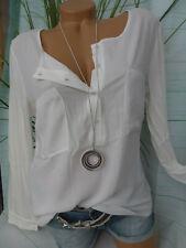 Heine Shirt Damen Bluse Gr. 40 bis 52 weiß große Größen (145) Vokuhila
