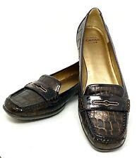 Circa Joan & David Sz 8.5M Brown Flats Loafers Leather Slip On Shoes CJ Finton