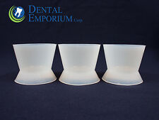 DENTAL LAB FLEXIBLE SILICONE DAPPEN DISH MIXING BOWL CUP 100ml X-LARGE 12pc/Bag