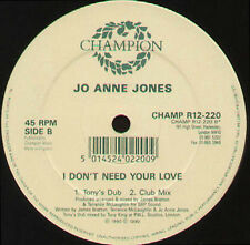 JO ANN JONES - I Don't Need Your Love - Champion