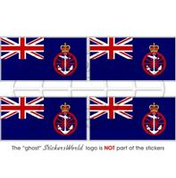 "British DEPARTMENT for TRANSPORT Flag UK Vinyl Bumper-Helmet Stickers 50mm(2"")x4"