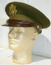 US WWII Army Officer Gabardine Crusher Hat Size 7 1/4
