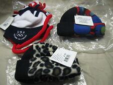3 infant S/M multi lot fleece hats turtle fur made USA