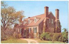 Chrome Postcard Memorial House Westmoreland Co VA 1954