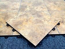 DIY Basement Flooring Tiles Clay Sandstone - As Low As $3.98 - MADE IN USA