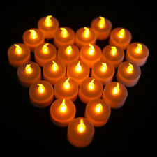 24 PCS Flameless Votive Candles Battery Remote Operated Flickering LED Tea Light