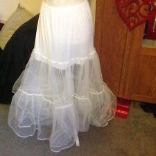 Vintage Underskirt Petticoat Slip 2 Layered Tuile Net. 36'' Long 26-36'' Waist