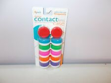 New California Accessories 6 Pack Contact Lens Case Vibrant Colors