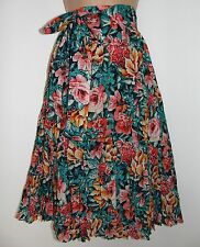 NWT Laura Ashley crinkle cotton, waist tie, side pockets, lined skirt, 14 UK