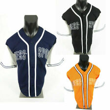 Mens Guess Sports Brand Baseball Jersey T Shirt Embroidery Blue Black or Orange
