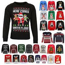 Kids Boys Girls Merry Christmas Ya Filthy Animal Xmas Retro Knit Jumper Sweater