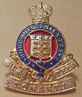 New Zealand Army ORDNANCE CORPS Cap Badge Anodised type QE2 Crown era