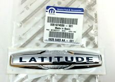 15-20 Jeep Renegade Latitude liftgate hatch blue chrome Nameplate Badge Emblem