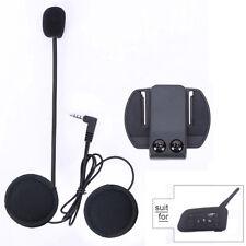 Motorcycle Helmet Speaker Earphone Mic Headset For V6 1200M BT Interphone US