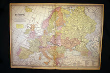 Antique Map 1925 Europe OR Africa