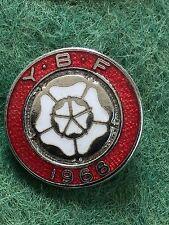 Vintage Enamel Bowling Bowls Club Badge Pin YBF 1966 Bowling Club